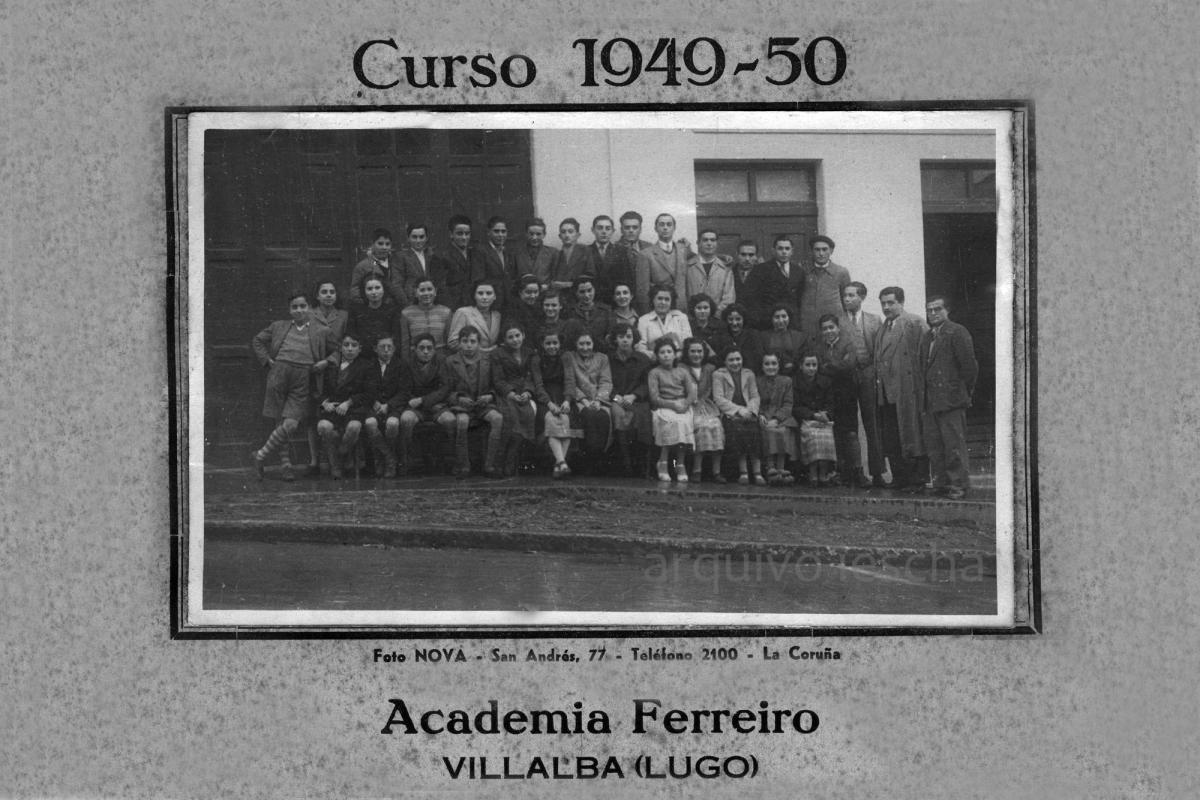 1949-1950 - Academia Ferreiro (Foto cedida polo Iescha)