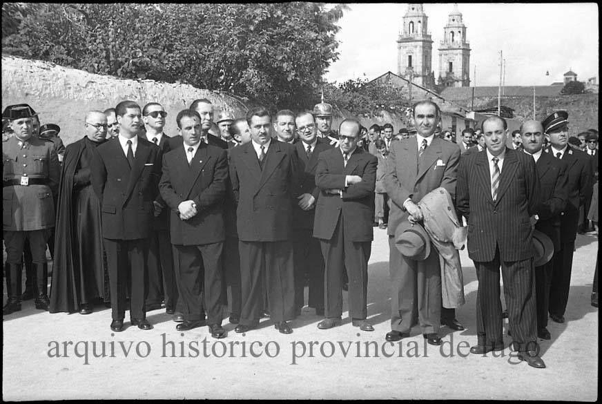 Profesores da Academia de Vilalba, entre outras autoridades